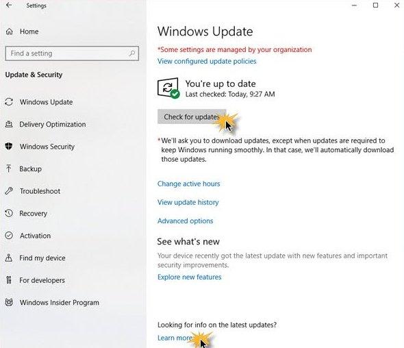 Method 6: Check for Windows updates - weblium blog