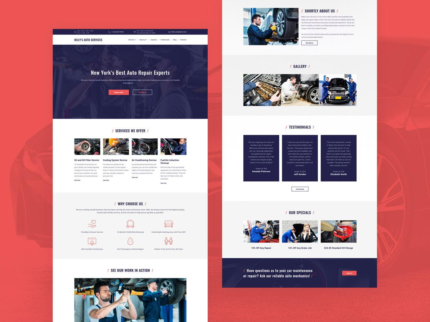 car repair website idea - weblium