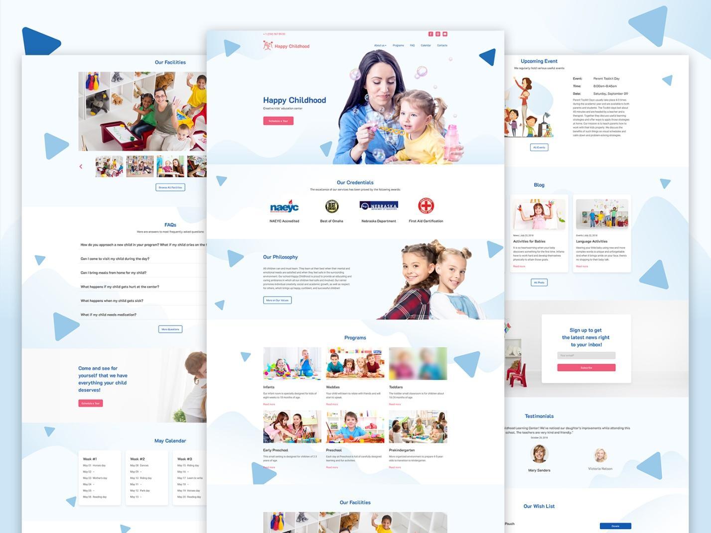 education center website template - weblium blog