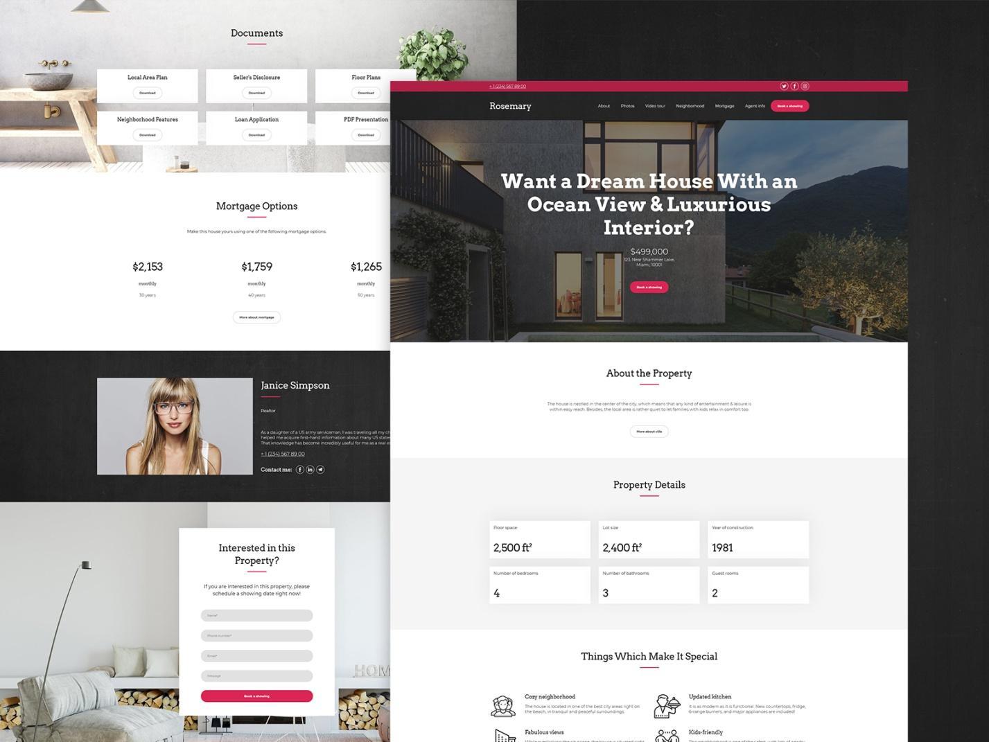 real estate website template - weblium