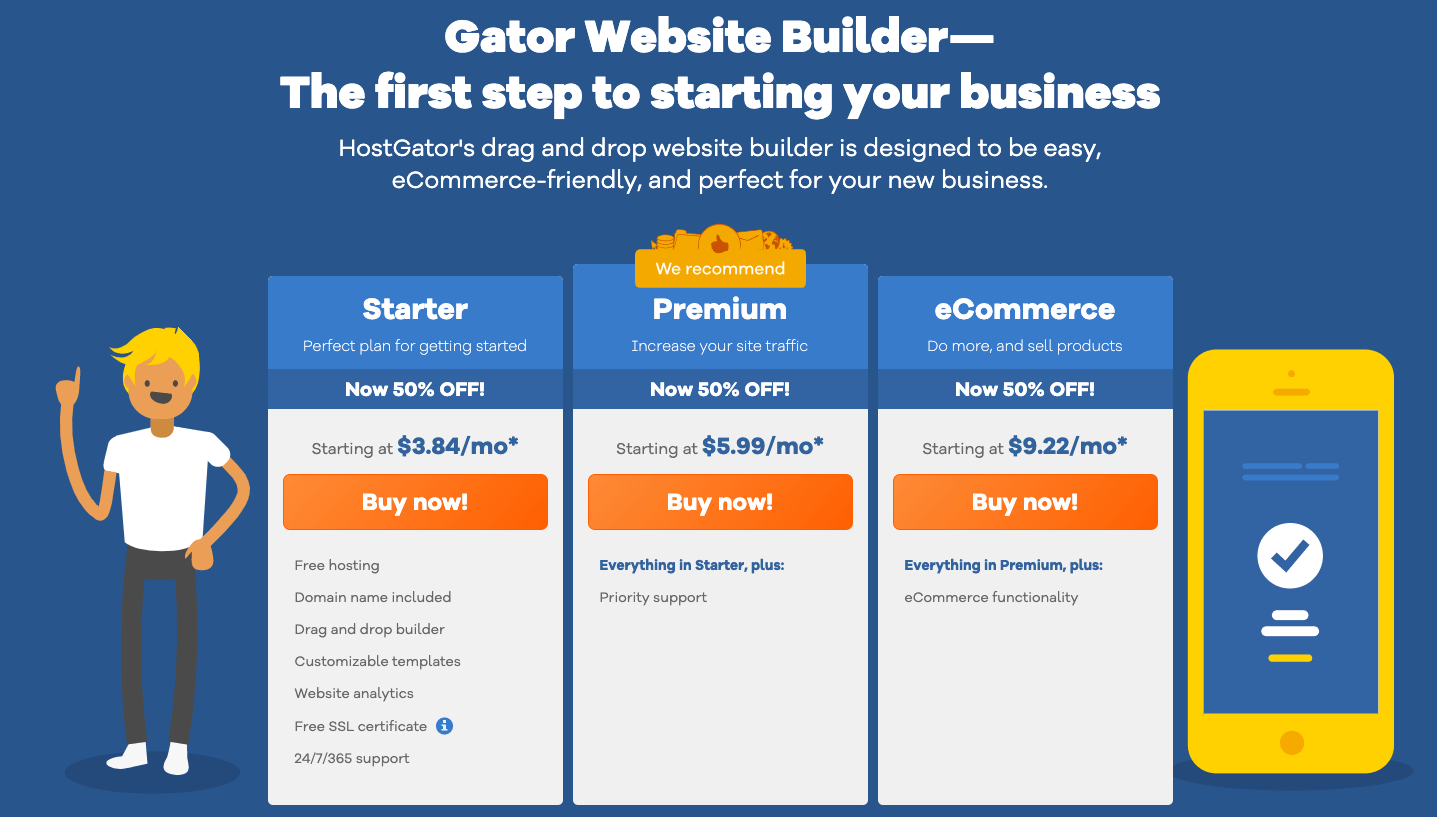 gator website builder - weblium