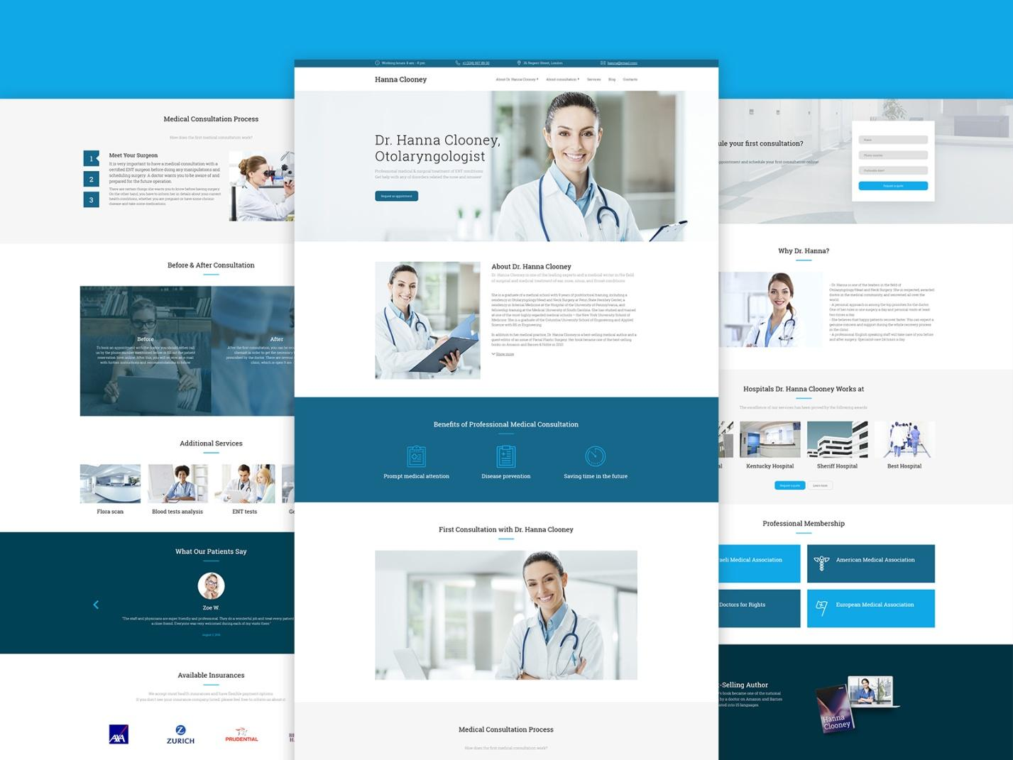 medical website templates - weblium blog