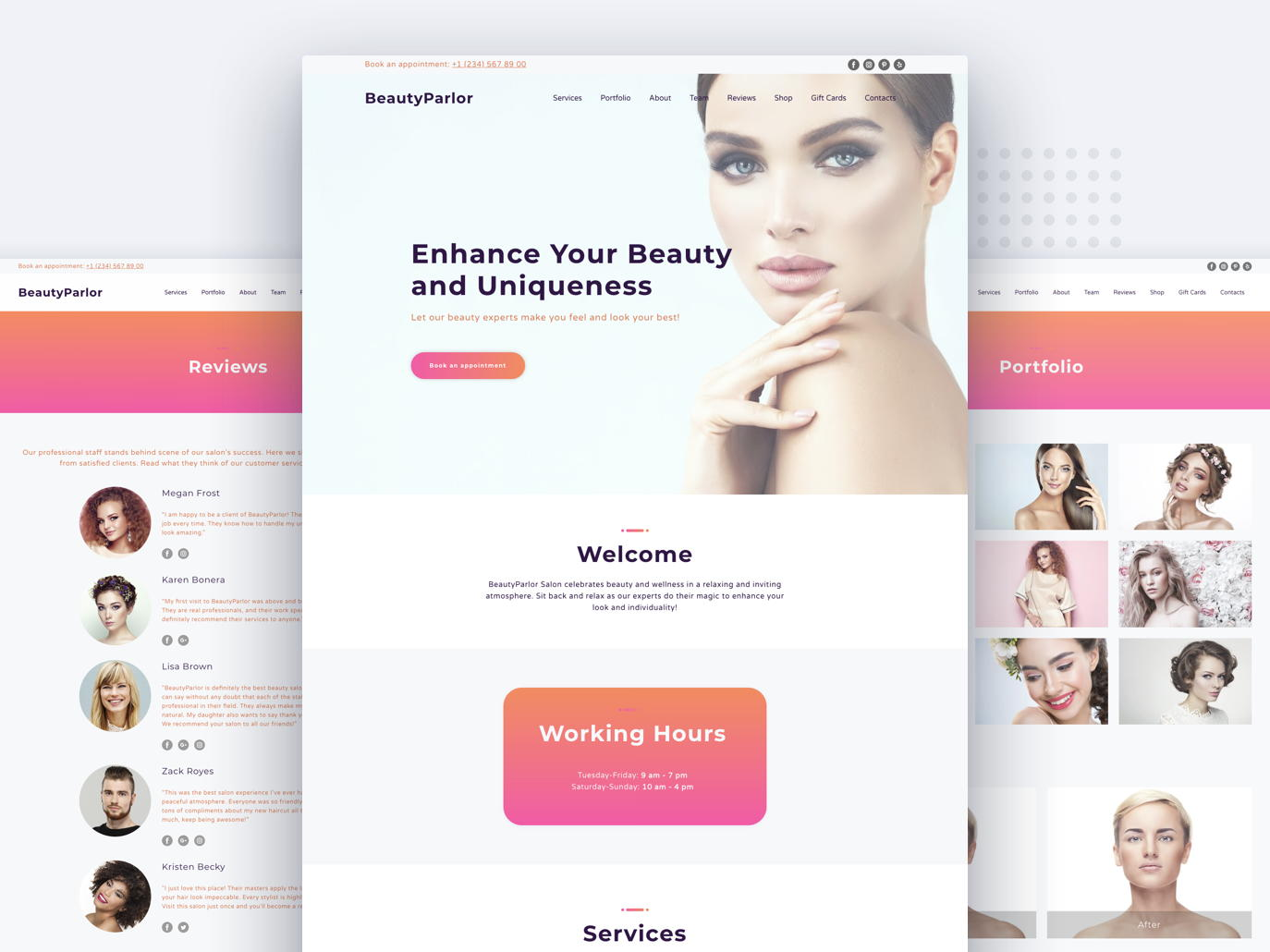 beauty website templates - weblium blog