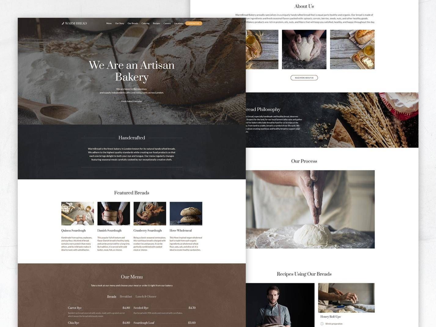 bakery website templates - weblium