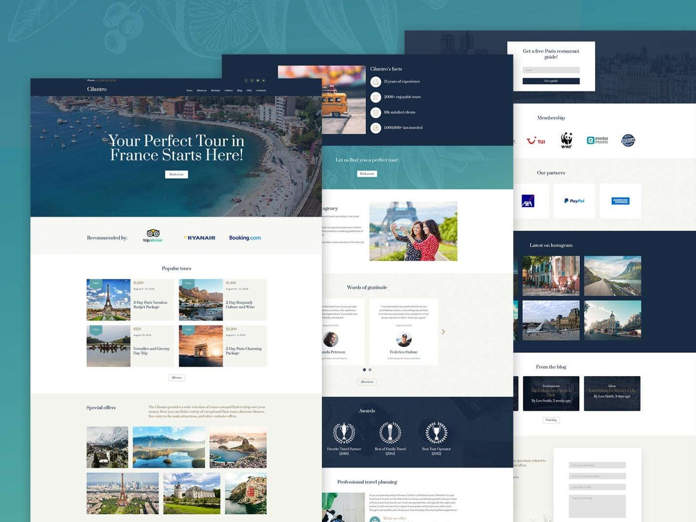 travel website templates - weblium