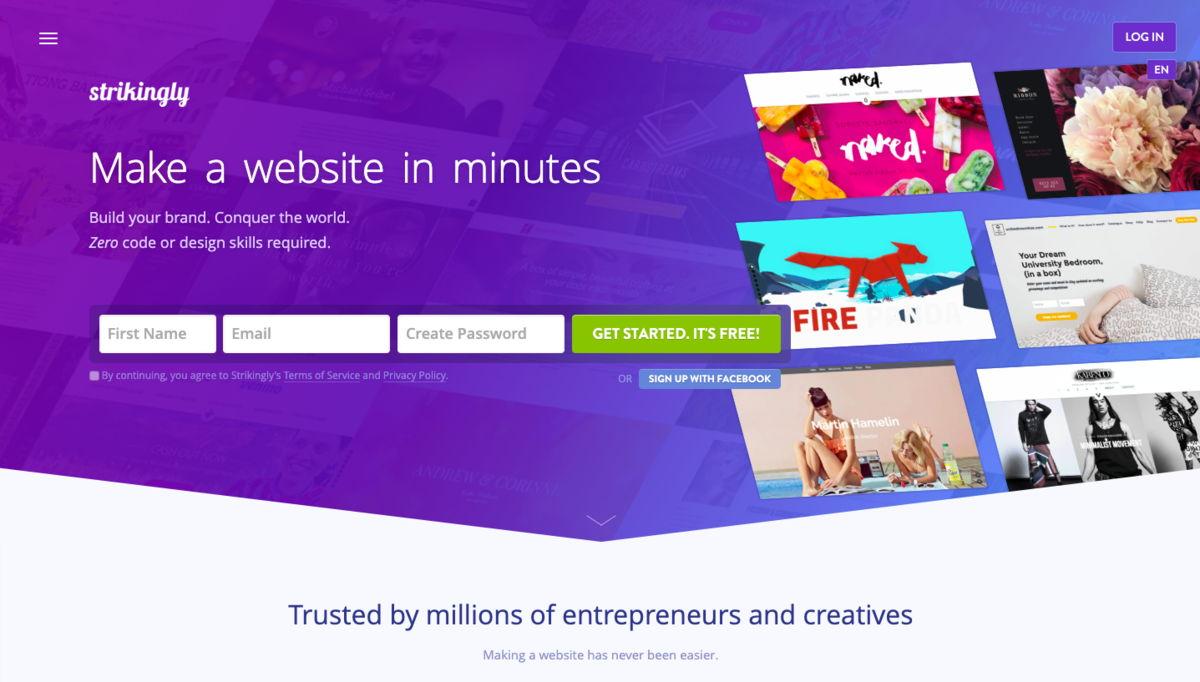 Strikingly website builder - weblium