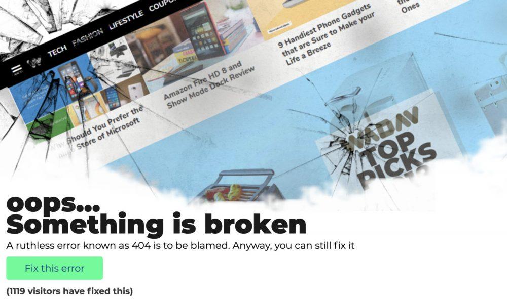 wadav 404 page - weblium blog