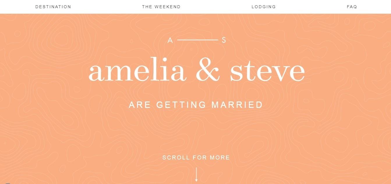 wedding website examples - weblium blog