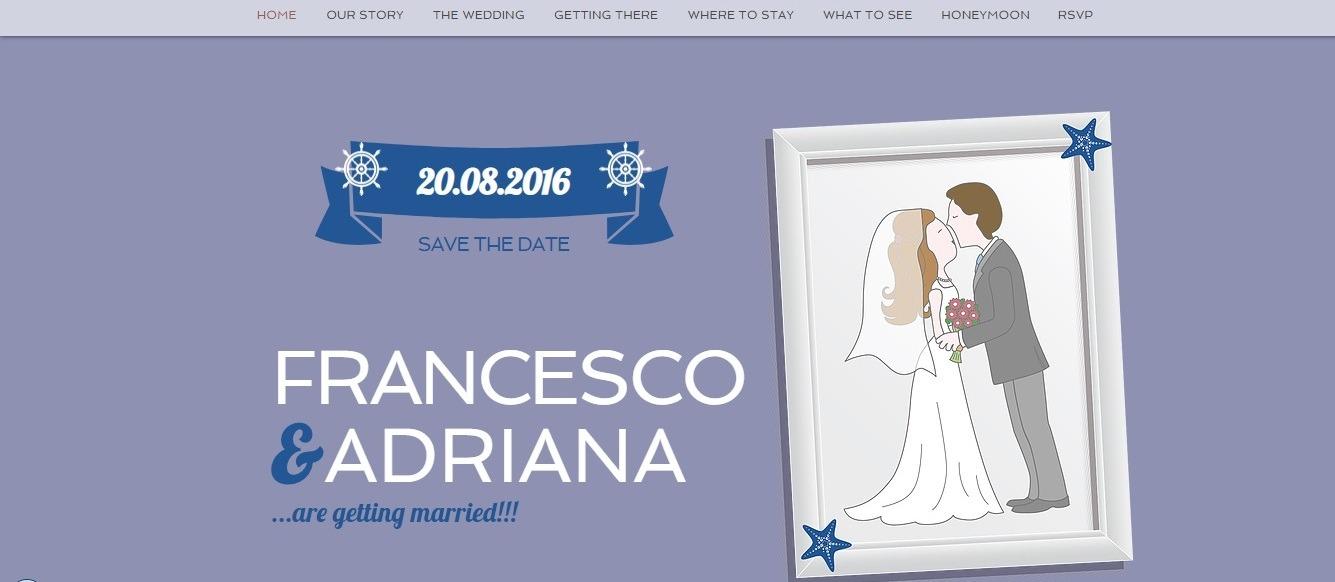 wedding website example - weblium