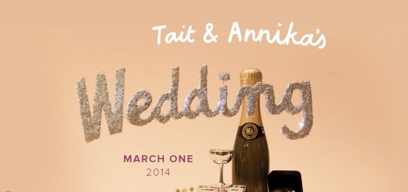wedding website examples - ta wedding