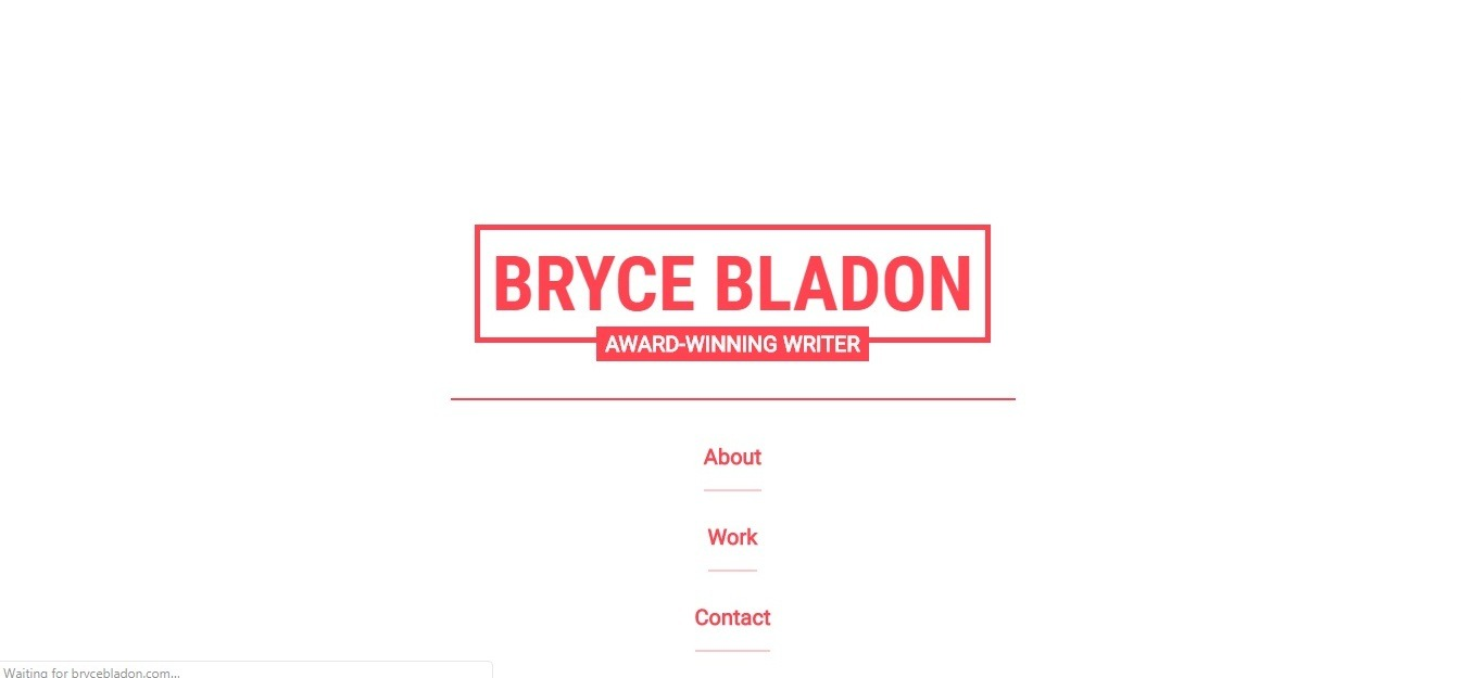 Best small consulting firm website example: Bryce Bladon - weblium blog