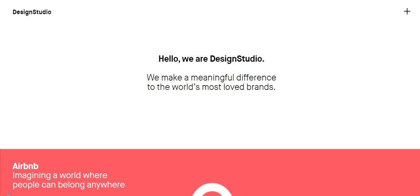 consulting website example - weblium blog