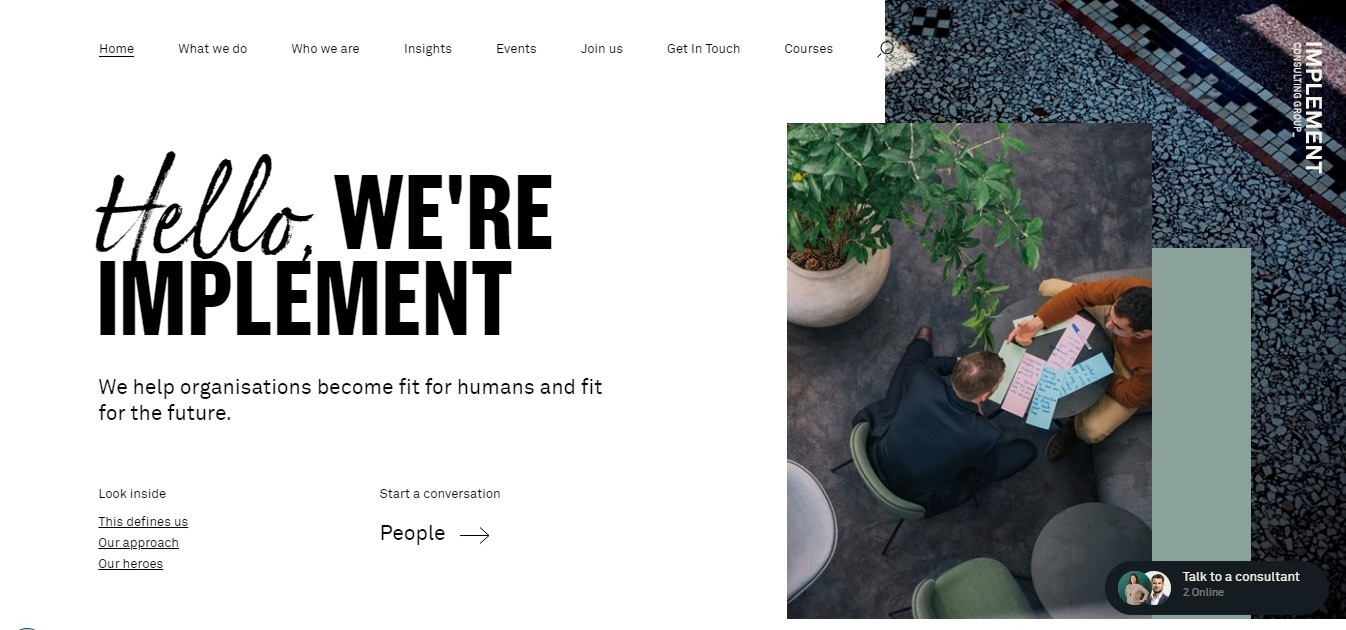 Marketing consulting website of the day: Implement