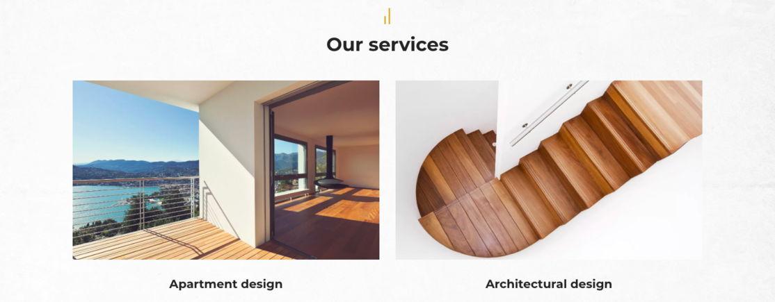 interior designer portfolio example - weblium blog