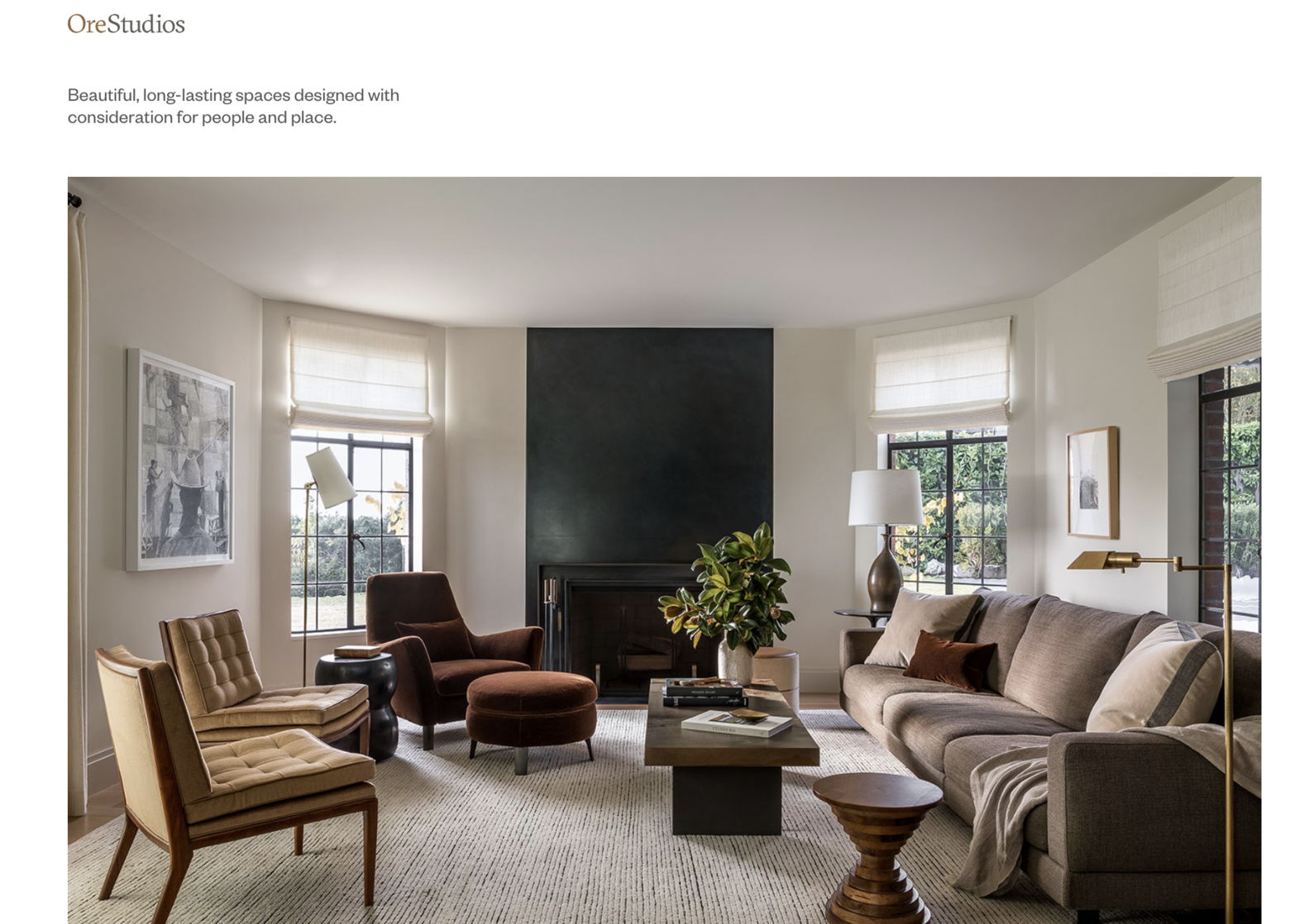 interior designer portfolio website - weblium blog