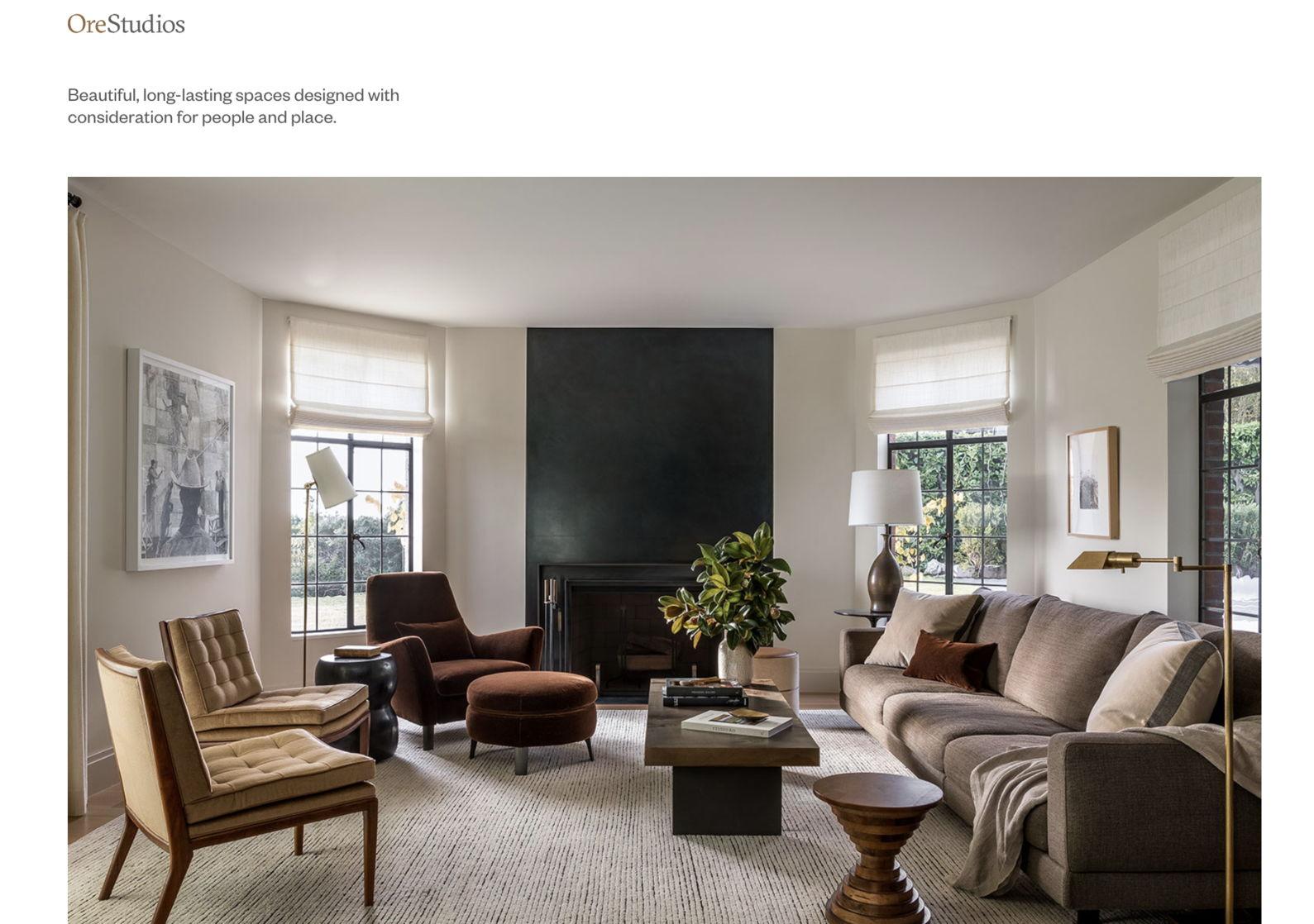 interior designer portfolio website - weblium blog