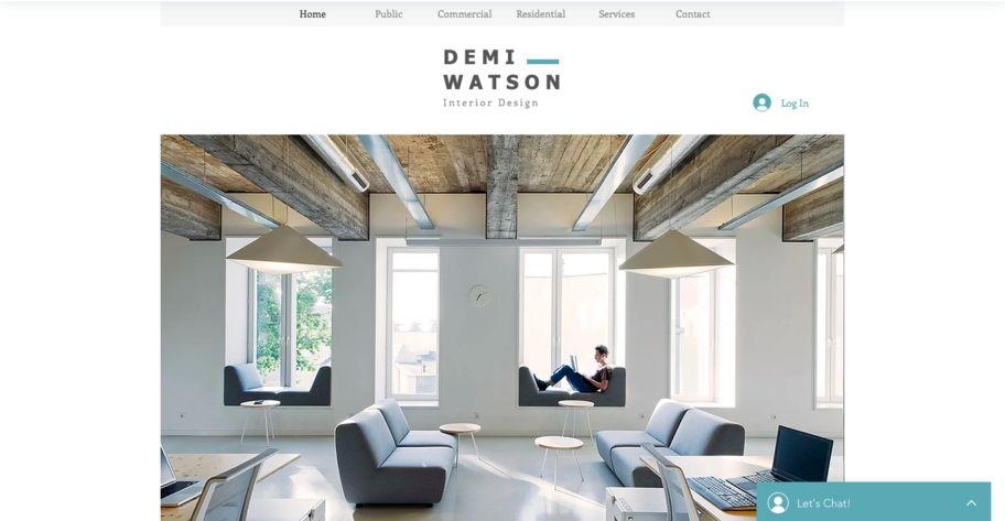 wix interior portfolio website - weblium blog