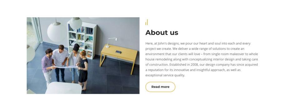 how to make interior designer website - weblium