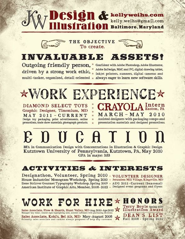resume example | weblium blog