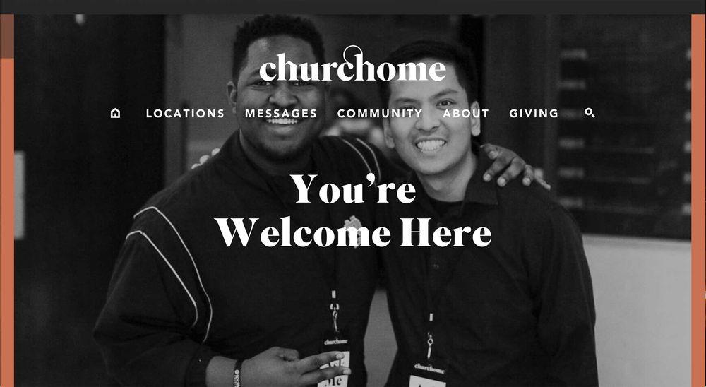 church website examples