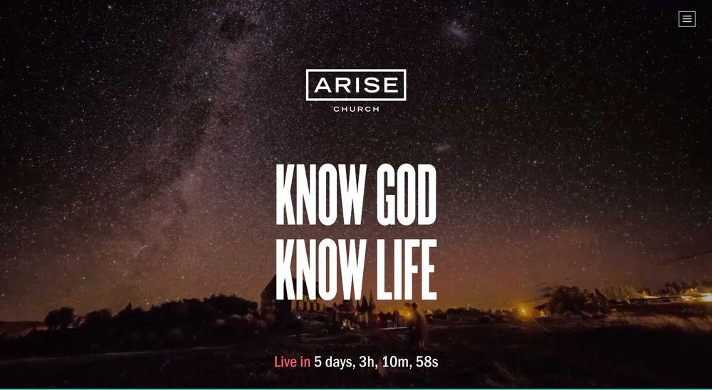 Arise - church website example