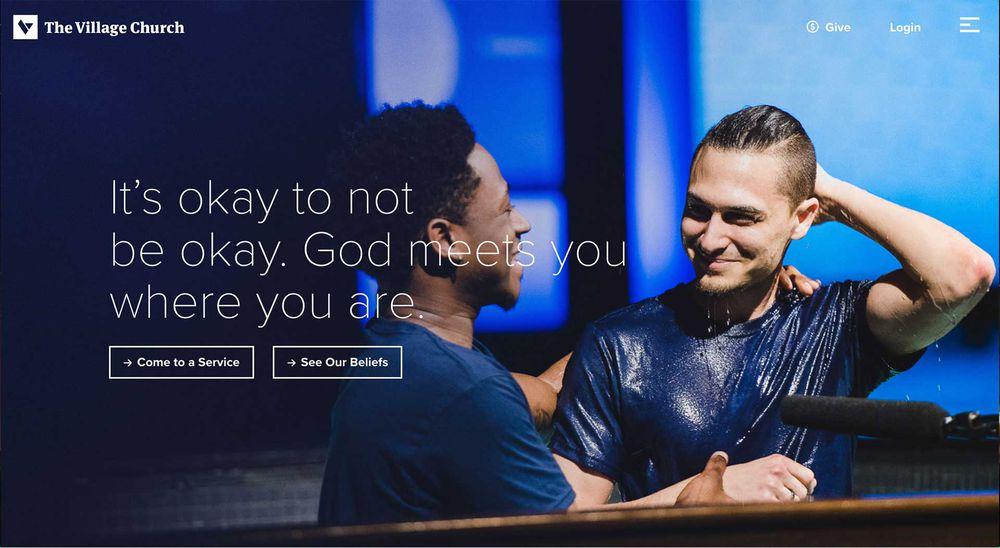church website examples - weblium blog