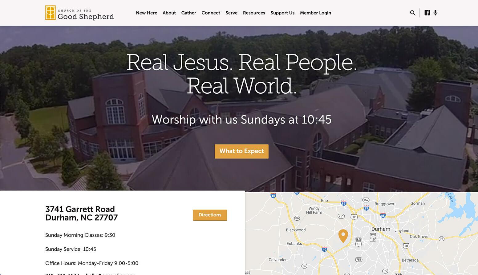 church website example - weblium