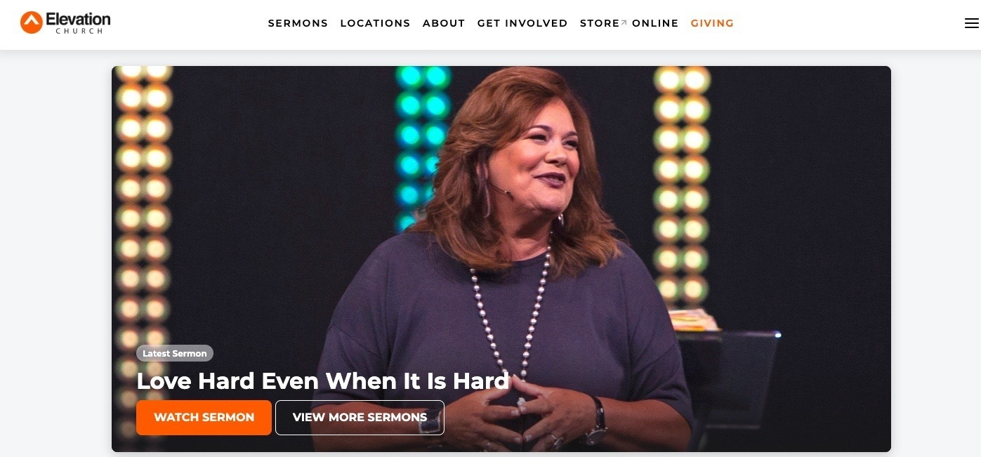 church website example - weblium blog