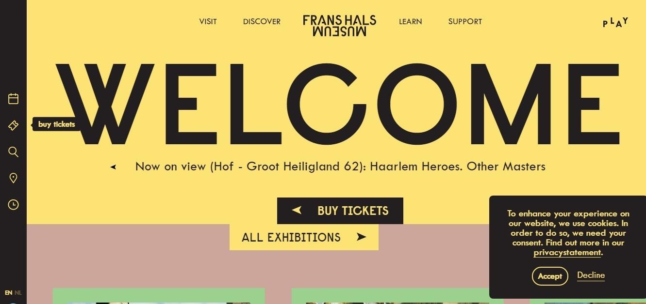 Frans Hals museum, Awwwards winner
