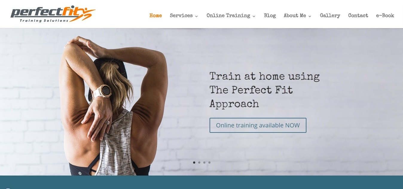 fitness website examples - weblium