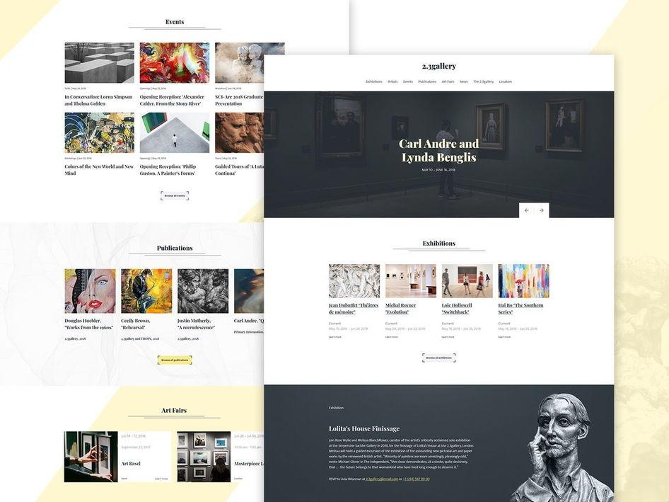 museum website templates