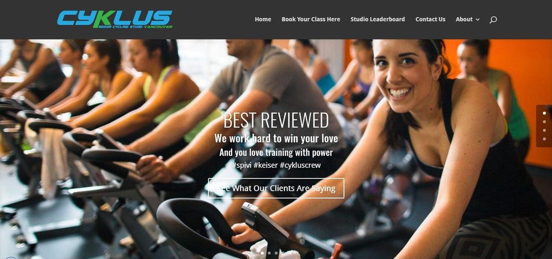 fitness website design - weblium blog