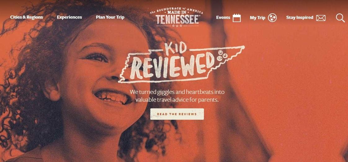 Tennessee vacation retro website