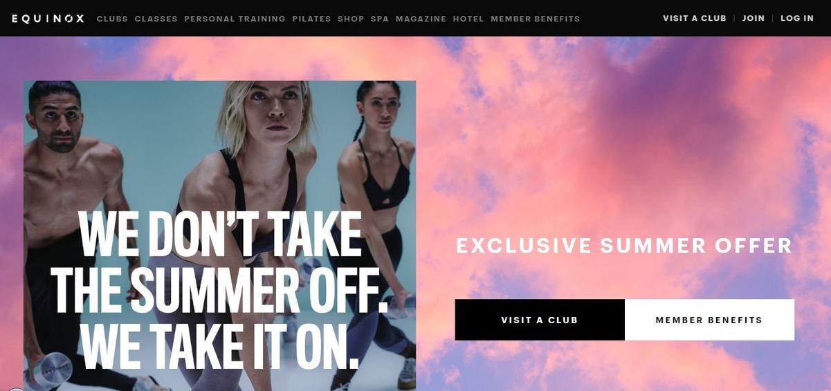 Personal Trainers Website Example - weblium blog
