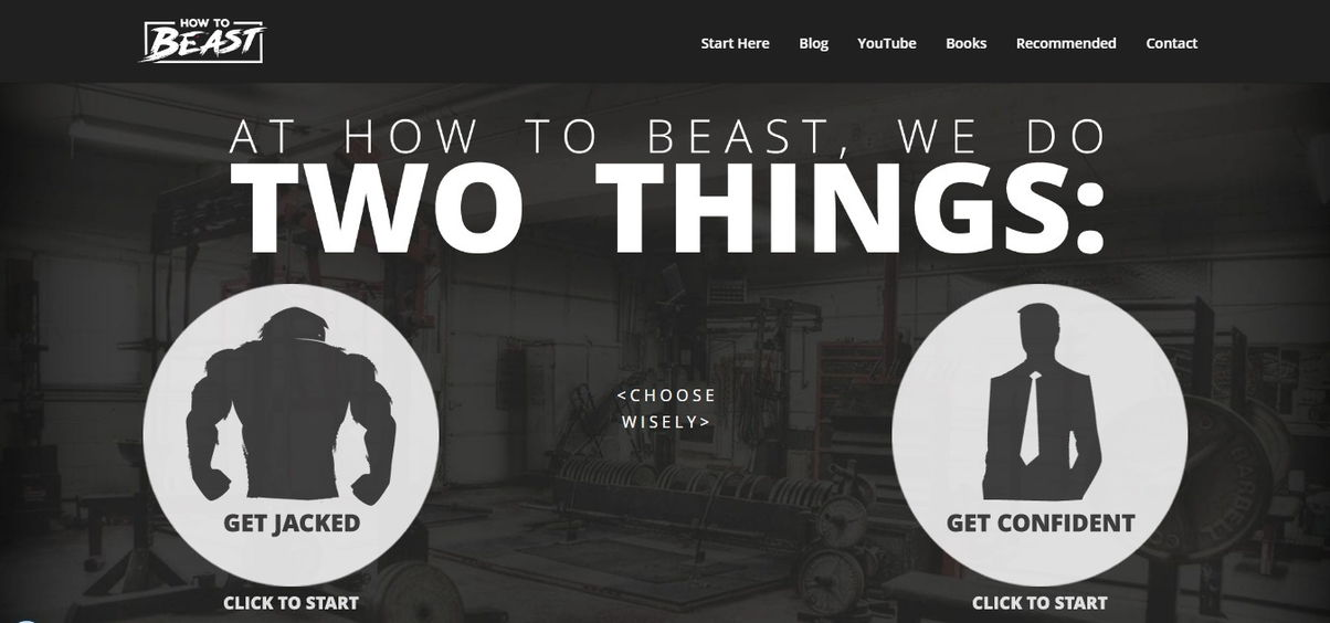 How to Beast: Best Health And Fitness Websites Example - weblium blog