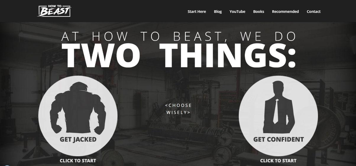How to Beast: Best Health And Fitness Websites Example - weblium blog