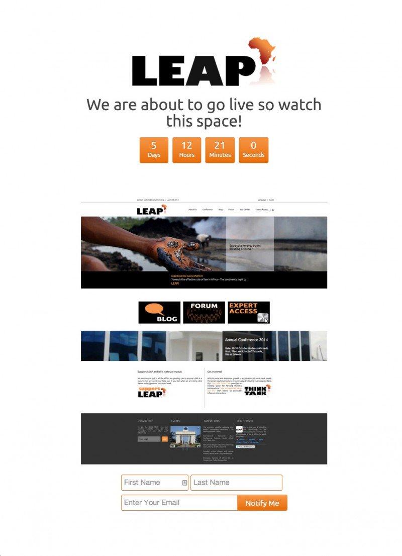 LEAP under construction page - weblium blog