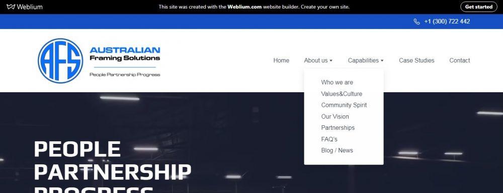 Upalti drop down menu - weblium