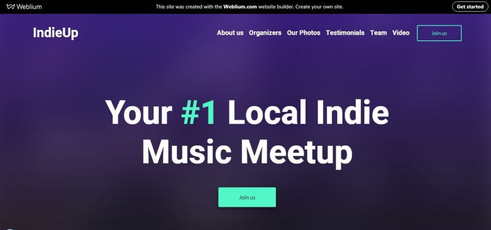 IndieUp event landing page template