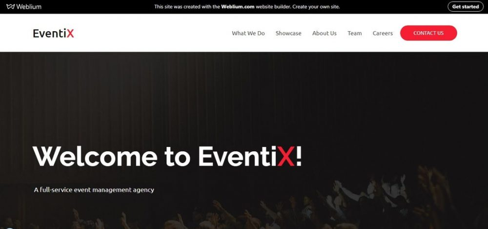 EventiX event landing page template