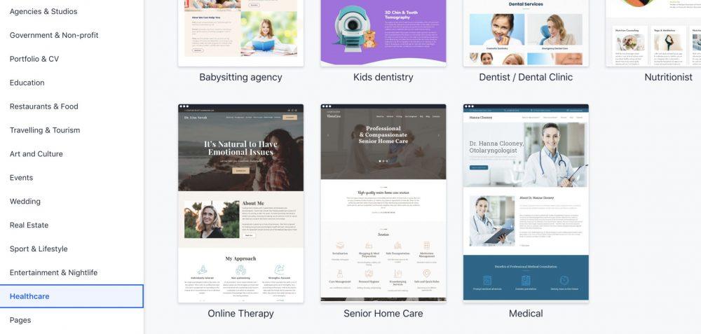 screen website templates - weblium