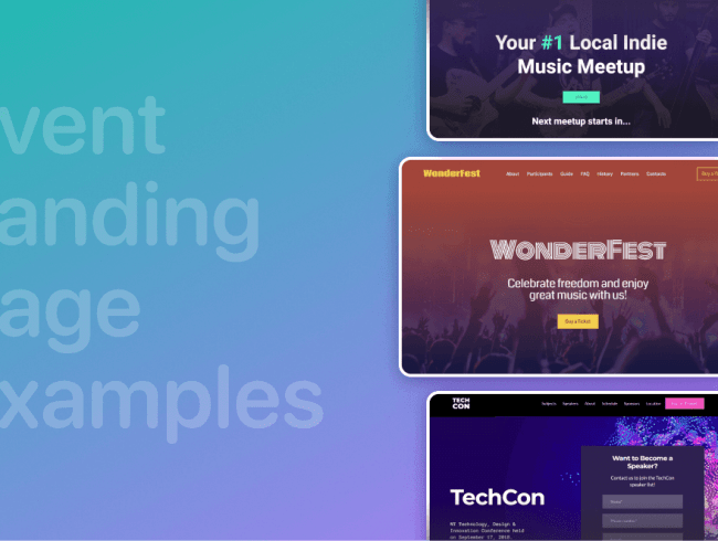 10 Event Landing Page Examples