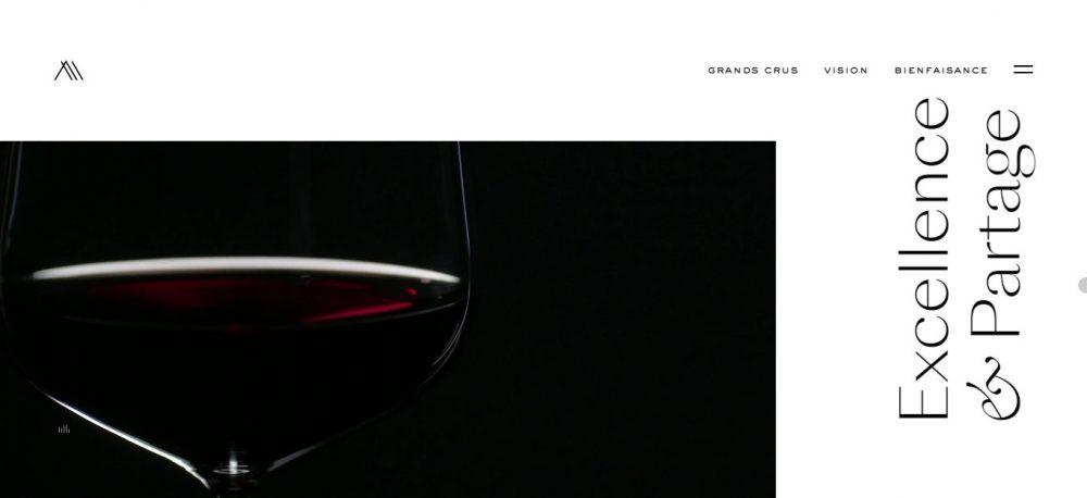 black design website examples - weblium