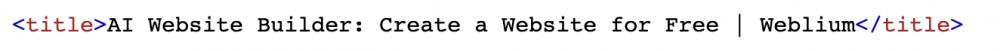 title html tag example - weblium blog