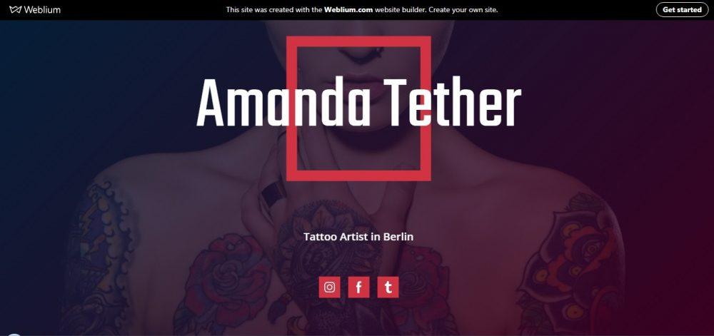 tattoo template - weblium