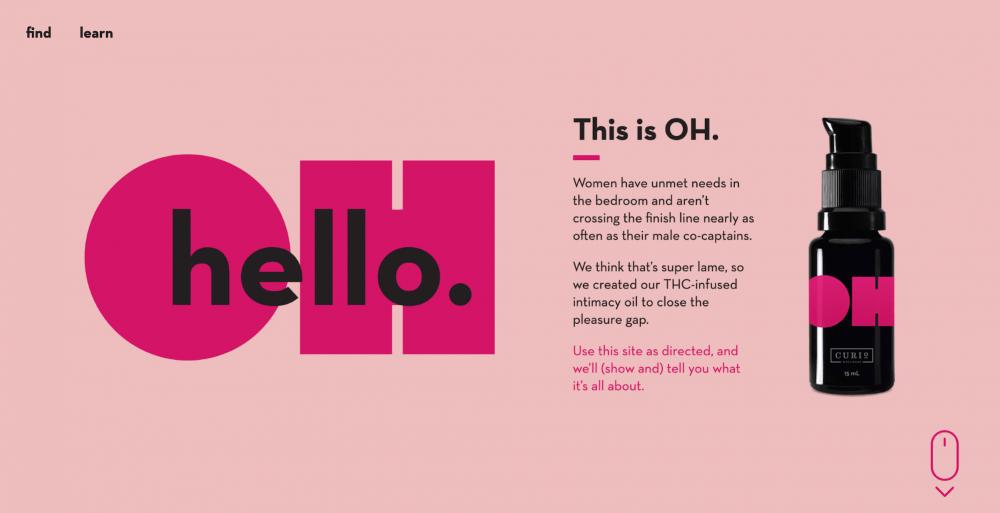 pink website design examples