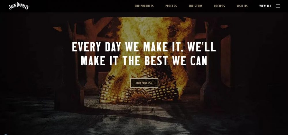 black website examples - weblium