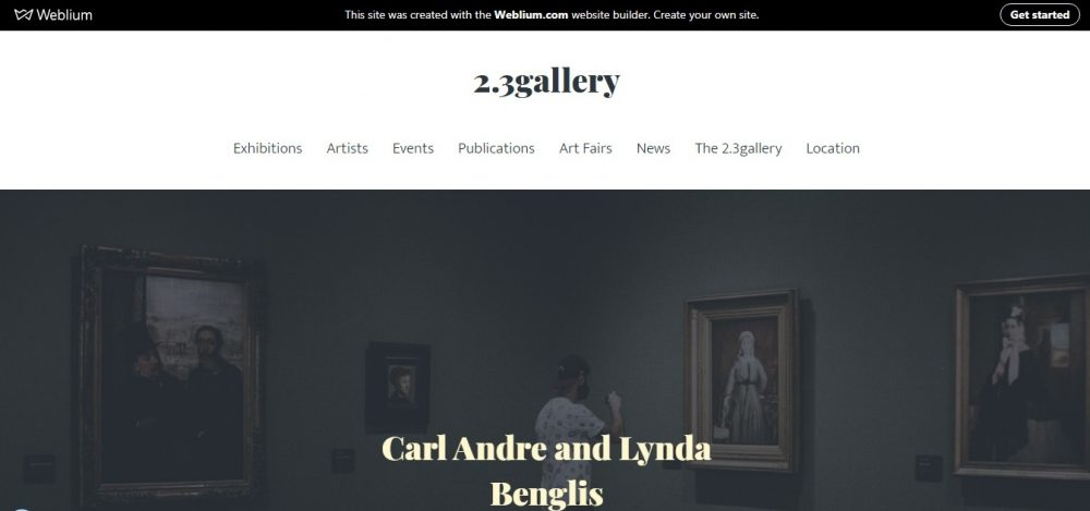 art gallery website templates - weblium