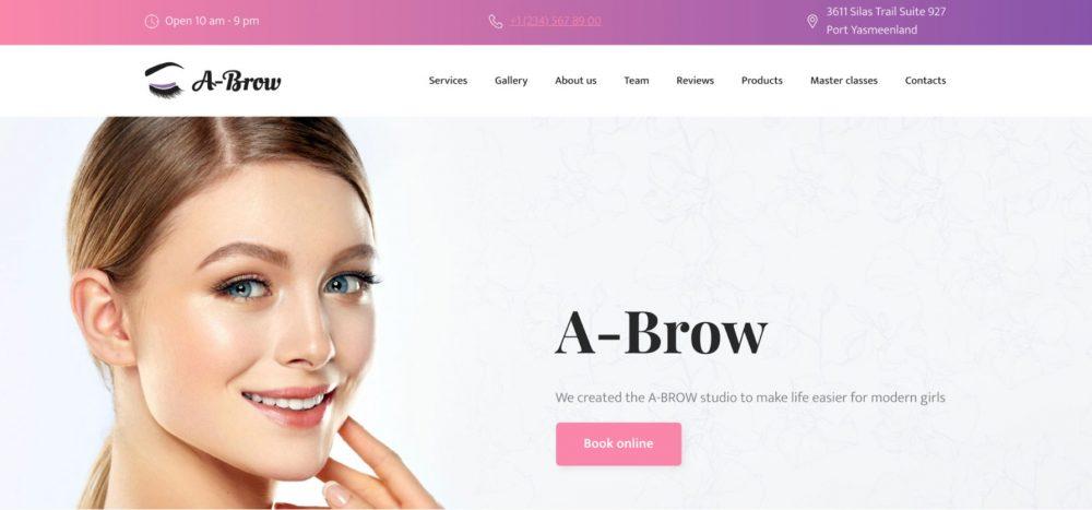 Brow Bar pink template
