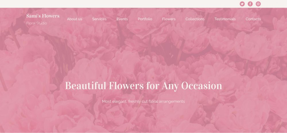 Floral Studio Pink Template